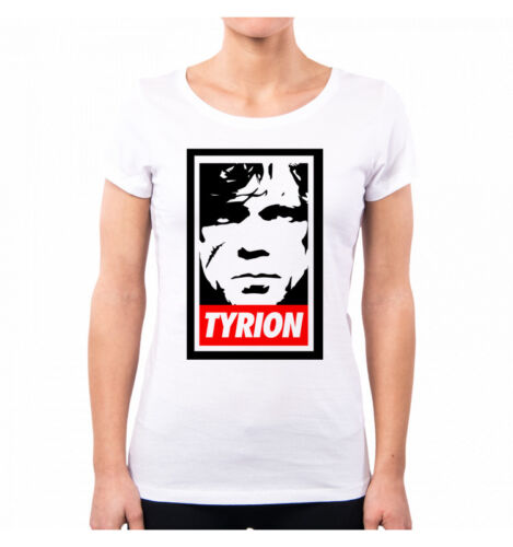 T-SHIRT DONNA TYRION LANNISTER GAME OF THRONES SERIE TV IL TRONO DI SPADE TV SER