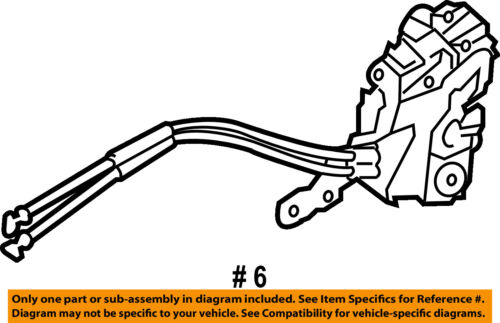 Front Genuine Hyundai 81310-3X030 Door Latch Assembly Left