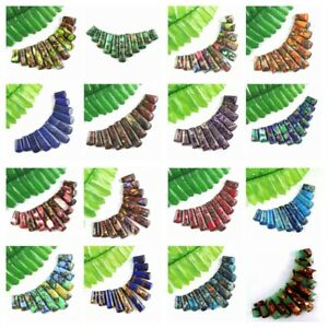 Wholesale-11pcs-Mixed-Gemstone-Sea-Sediment-Jasper-Pendant-Bead-Set-F-Bead