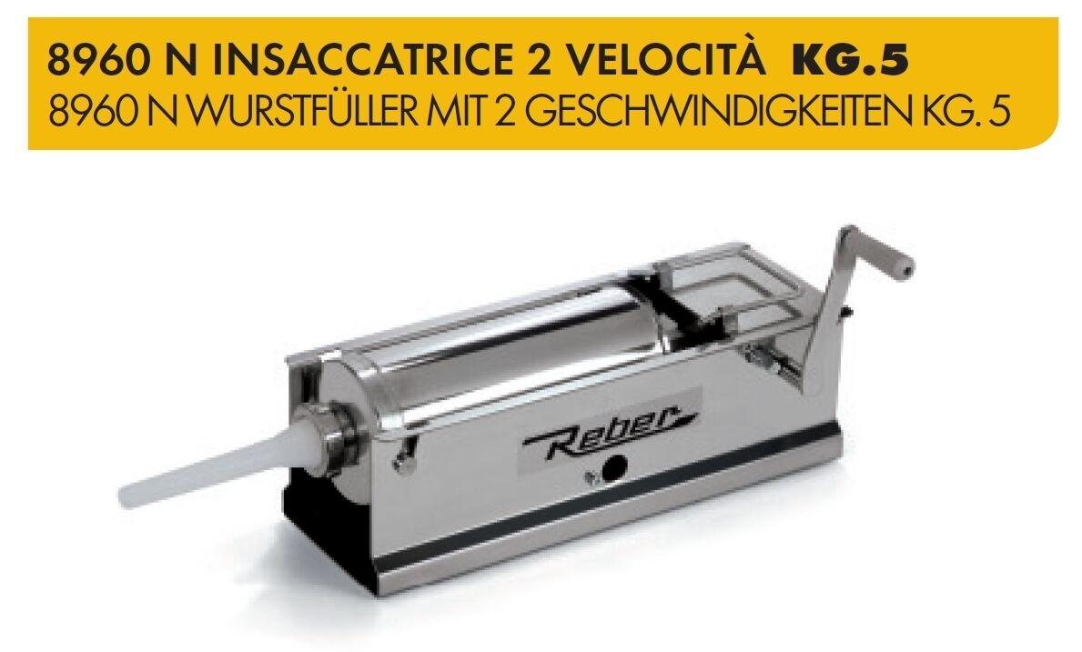 ORIGINALE REBER INSACCATRICE 2 VELOCITA' KG.5 INOX 8960N SALSICCE Made in
