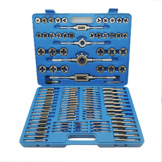 Handle Hand Tools 110pcs Tap and Die Set Screw Thread Metric Wrench Taper Wrench