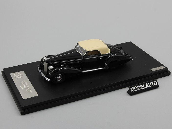 GLM 1 43 Packard Modelo 1601 120 Graber Converdeible 1938 nero