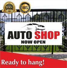 Auto Shop Now Open Banner Vinyl Mesh Banner Sign Car Wash Wax Carwash Tools