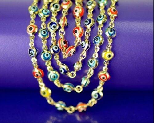 14k Yellow Gold Evil Eye Bracelet