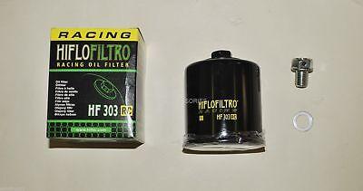 Kawasaki ZX6R 03-06 Race Drilled Lockwire HF204 Oil Filter Sump Bolt Plug Washer