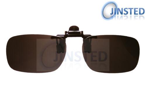 Schwarz Polarisiert Flip Aufklappbare Zum Anklammern mit Clip Sonnenbrille