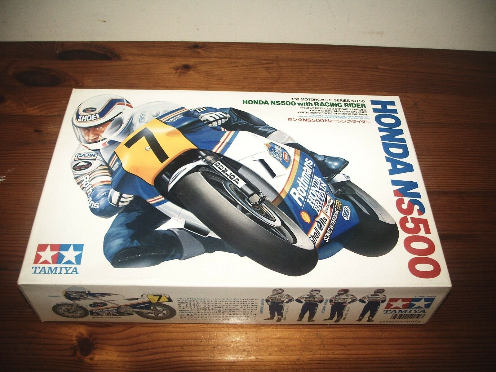 TAMIYA 1 12 HONDA NS500 WITH RACING RIDER MOTORCYCLE MODEL KIT 14050
