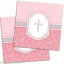 16 Holy Blessing Pink Girl's 1st Communion Party 33cm Paper Luncheon Napkins