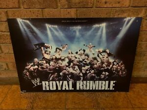 WWE-Royal-Rumble-Poster-Board-Sign-2007-WWF-Wrestling