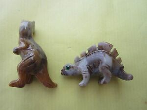 Lot-2-dinosaures-Mineral-taille-T-Rex-et-stegosaure