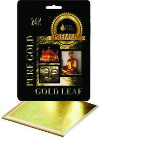 10 packs wholesale job lot  24CT Gold Leaf 100/% Genuine Scrap Gold Sheets
