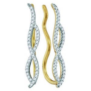 10K-Yellow-Gold-Diamond-Climbing-Earrings-Infinity-Ear-Crawlers-25ct
