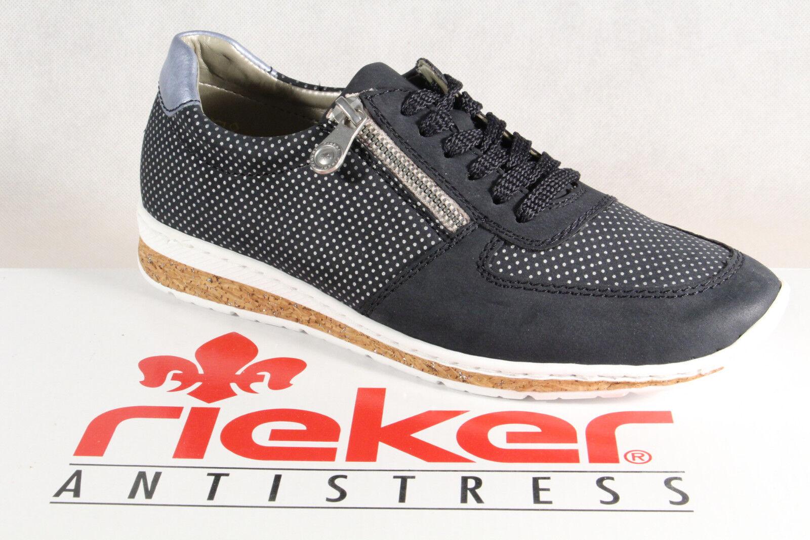 Los zapatos más populares para hombres y mujeres Descuento por tiempo limitado Rieker mujer Zapatos de cordones, zapatos, Zapatillas, azul, n5121 NUEVO