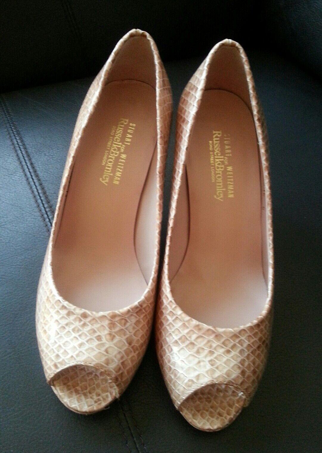 sconto di vendita Russell & Bromley STUART WEITZMAN WEITZMAN WEITZMAN con tacco Misura Scarpe Pelle di Serpente naturale  vendita online