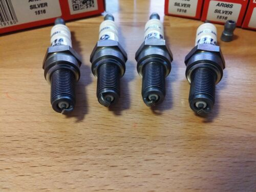 4x AR08S = Brisk YS Performance Motor Cycle Silver Electrode Racing Spark Plugs