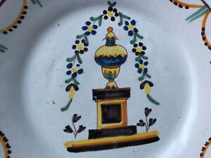 Assiette Faience Régionale Polychrome Earthenware antique french Nevers YtBchpk0-07215034-616857402