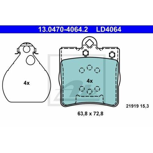 C208,C209,A208,A209 W210 ,E-KLASSE ATE Bremsbeläge HA für MERCEDES CLK