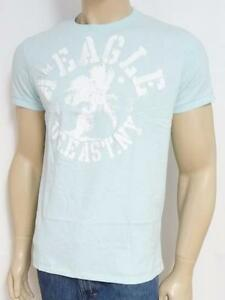 222daddccd2 American Eagle Outfitters US East NY Double Logo Mens Blue T-Shirt ...