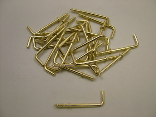 """38mm 1.1//2/"""" pack of 25 Dresser cup hook square hook electro-brass finish"""