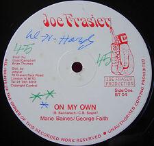 """Marie Baines & George Faith On My Own 12""""Lovers Joe Frasier b/w Own Rhythm VINYL"""