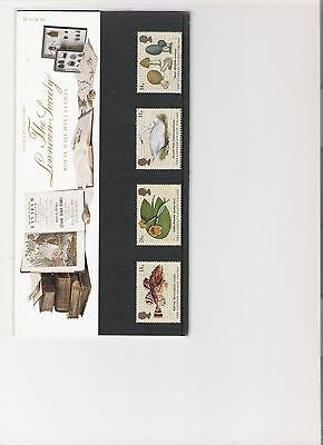1988 ROYAL MAIL PRESENTATION PACK THE LINNEAN SOCIETY MINT DECIMAL STAMPS
