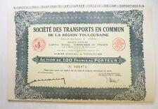 Action ancienne: Sté des transports en commun de Toulouse F.Pons ( 724 )