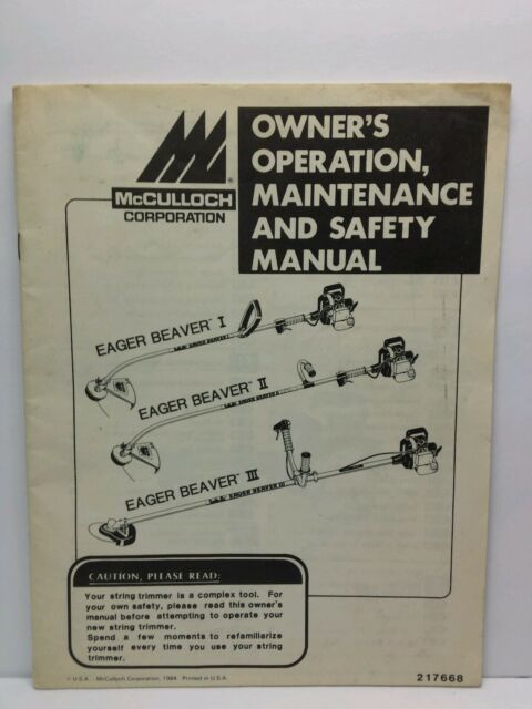 mcculloch weed wacker manual