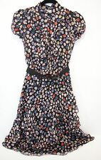 Moschino Cheap and Chic Polka dot Belted Silk Dress XS It 38 US0