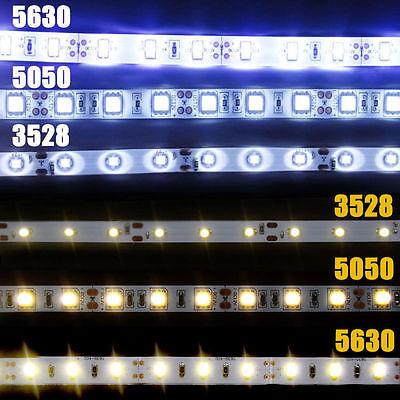 5M SMD RGB 5050/3528/5630 300LEDs Cool/Warm White Waterproof Strip Light