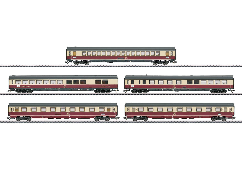Trix 23475 schnellzugwagen set tee 32 parsifal der db 5-teilig   neu in ovp
