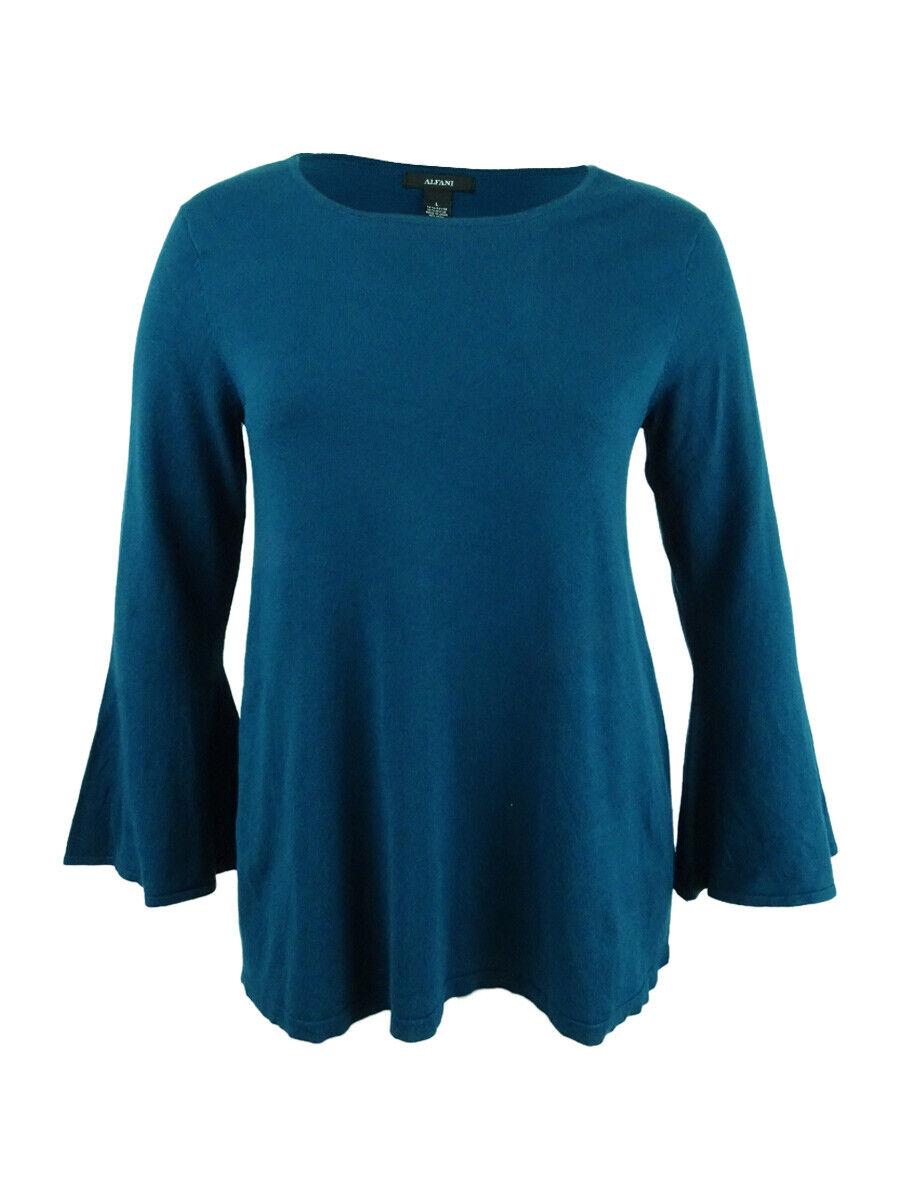 Alfani Women's Bell-Sleeve Tunic Sweater