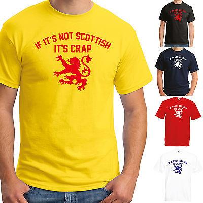 IF IT/'S NOT SCOTTISH IT/'S CRAP T-SHIRT JOKE FUNNY SCOTLAND MENS LADIES LION
