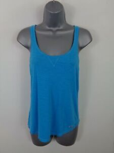 WOMENS-HOLLISTER-BLUE-SLEEVELESS-CASUAL-SUMMER-BLOUSE-VEST-TANK-TOP-SIZE-S-SMALL