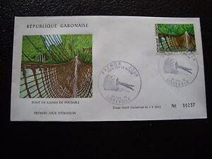 Tag 30/7/1974 Briefmarke WohltäTig Gabun Umschlag 1 b1