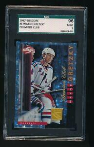 1997 - 1998 Score #1 Wayne Gretzky Premiere Club SGC 9 VHTF Grail Rangers