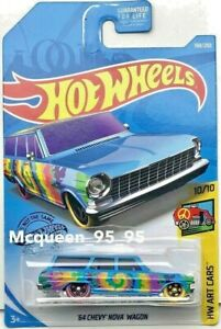 HOT-WHEELS-2019-HW-HOT-ART-CARS-039-64-CHEVY-NOVA-WAGON