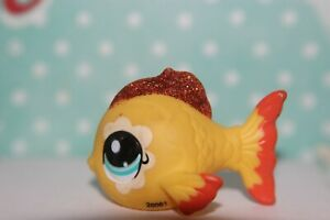 Authentic-Littlest-Pet-Shop-2383-Glitter-sparkle-yellow-gold-fish