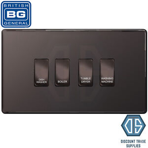BG Black Nickel Screwless Custom Grid Switch Panel Kitchen Appliance ...