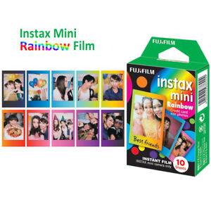 Fujifilm Instax Mini Rainbow 10 Film For Fuji 8 9 25 50s 90 SP-1 Instant Camera