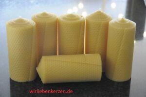 6-X-Bougies-de-Cire-D-039-Abeille-XXL-100-150-x-65mm-Fait-a-la-Main-en-D