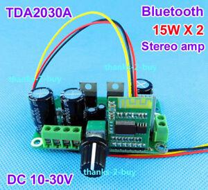DC 12V-24V Bluetooth 4.2 Receiver Module 15W-30W *2 Stereo Audio Amplifier Board