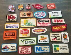 Vintage Farm Advertising Patches Lot of 25 Stihl Dekalb Amoco & More!