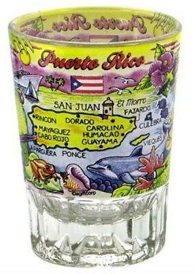 Bar & Spirituosen Diskret Puerto Rico Doppeltes Schnapsglas Shotglass Eine VollstäNdige Palette Von Spezifikationen