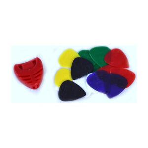 18-x-GUITAR-PICKS-PLECTRUMS-holder-grip-nylon-hard-soft-acoustic-bass-electric