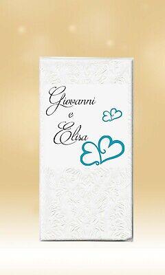 Consegna Veloce 30 Fazzoletti Personalizzati Lacrime Di Gioia Matrimonio Wedding