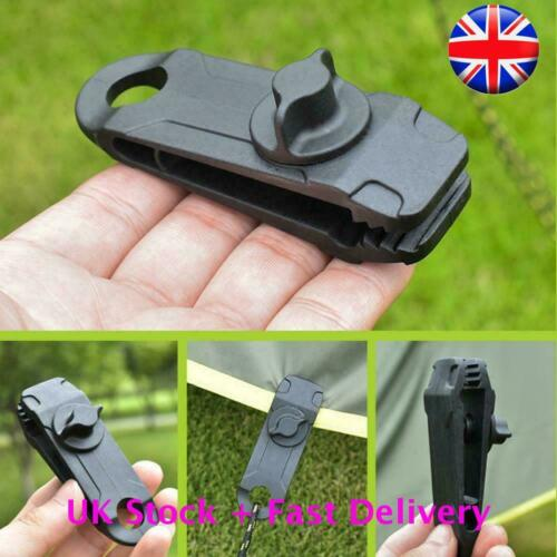NEW 4Pcs 10Pcs Reusable Linoleum Clip Grommet Tent Clips Buckle Awning Tarp UK