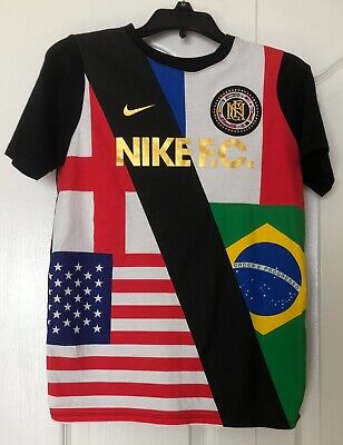 Nike Boys Football Club Flag Soccer Graphic Cotton Shirt