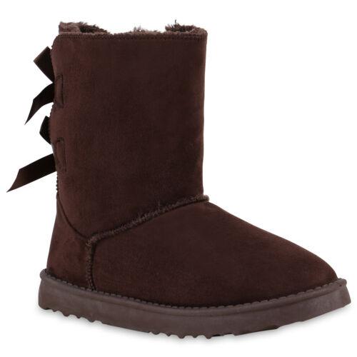 892889 Warm Gefütterte Damen Stiefeletten Schlupfstiefel Boots Stiefel Trendy