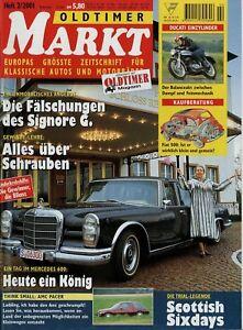 SchöN Oldtimer Markt 2001 2/01 Amc Pacer Ducati 250 350 450 Mark 3 Desmo Mercedes 600 Verschiedene Stile Berichte & Zeitschriften Auto & Motorrad: Teile