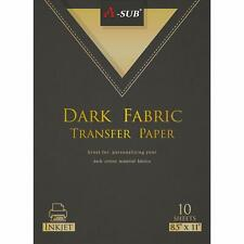 A Sub Inkjet Printable Dark Fabric Iron On Heat Transfer Paper Cotton 10 Sheets